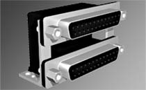 DUAL RIGHT ANGLE PCB MOUNT CONNECTORS – DUL SERIES